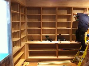 Installing new shop shelving